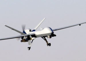 MQ-9 Reaper with Hellfire missiles. Image courtesy of wikipedia.org
