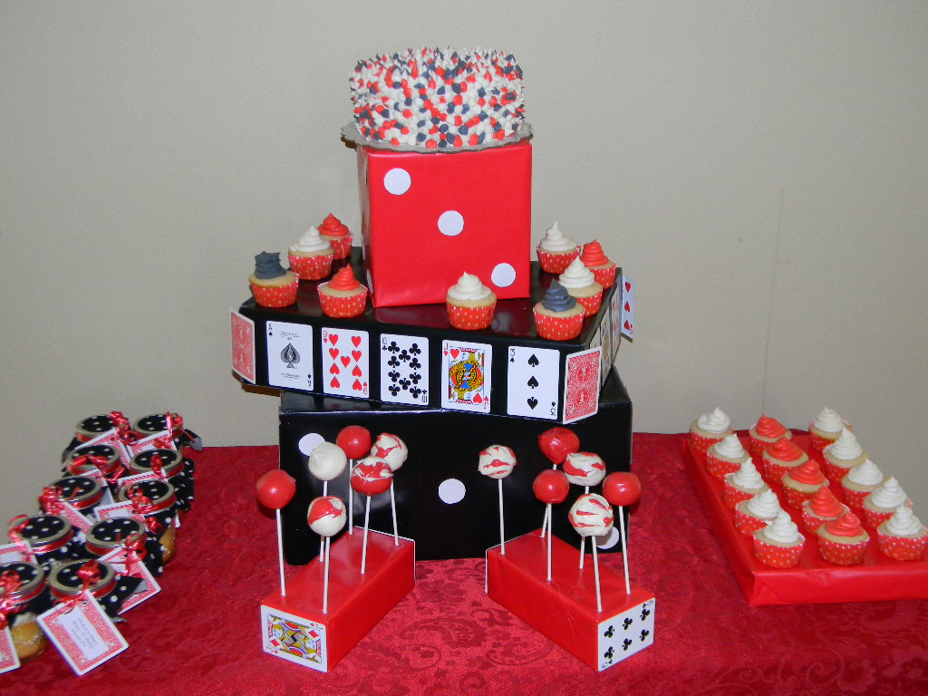 Casino Party Finished Table